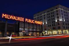 Milwaukee Public Market (MalaneyStuff) Tags: mkedusknov202016 milwaukee 3rd ward 3rdward milwaukeemarket dusk d5100 nikon usa night