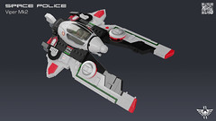 Space Police Viper Mk2 (CK-MCMLXXXI) Tags: lego moc space police vic viper interceptor starfighter ship
