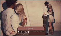 Ardent Poses - Adore Ad (Ardent Poses) Tags: secondlife second life sl avatar 2nd 2ndlife avi virtual vr 3d inworld poses pose ardent photography people exclusive avatars event love couple couples release new hold broderick logan ena roane enaroane bento advertisement on9 ardentposes