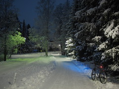 2019 Bike 180: Day 9, January 10 (olmofin) Tags: 2019bike180 finland espoo snow lumi frost kinos bicycle polkupyörä lumix 20mm f17