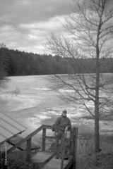 David, Lake Bonita (http://www.aimonephoto.com) Tags: bencinikoroll24s blackwhite caffenolcm mediumformat film fujiacros100 halfframemediumformat monochrome safe