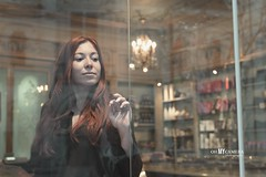 The girl of the shop (OhMyCamera) Tags: fille red roux rousse femme girl woman women light