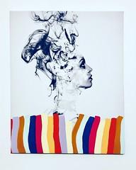 TRUE COLOURS by Emo Raphiel Astoria 2019 (c) (EMO - urban art) Tags: canvas signed artist paint stencil lady true colours colour street art modern cousin friend banksy astoria raphiel emo