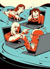 Illustration for «GQ Russia» (depingo.ru@gmail.com) Tags: illustration illustrator internet scandal gossip sea