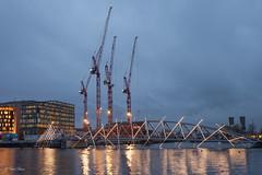 Amsterdam by Night (paulbunt60) Tags: amsterdam lichtshow nederland lightshow nightphotography cityview bridge cranes