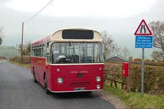 Hill climbing in Shropshire (Renown) Tags: bus singledecker aec reliance 505 ah505 parkroyal devongeneral ctt23c preserved preservation heritage restored