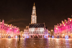 Arras, Place des Héros (2) (Alexandre D_) Tags: canon eos 70d sigma sigma1835mmf18hsmart long exposure night nightsky city nord pasdecalais hautsdefrance beffroi belfry architecture building light lights christmas birthday colors color colorful couleur colour colours cold winter fête tower noël batiment france french christmaslight decoration marché de noel christkindlmarkt weihnachtsmarkt adventsmarkt christmasmarket market placedeshéros town townhall mairie star nuit lightshow lion artois buildings old flemish unesco unescoworldheritagesite baroque style square beauty beautiful nice cityscape landscape people ghost ville ciel route personnes pink red