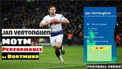 Jan Vertonghen MOTM Performance vs Dortmund (1 Goal, 1 Assist) #TOTBVB (triettan.tran) Tags: jan vertonghen motm performance vs dortmund 1 goal assist totbvb
