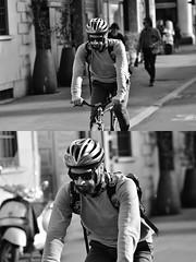 [La Mia Città][Pedala] (Urca) Tags: milano italia 2018 bicicletta pedalare ciclista ritrattostradale portrait dittico bike bicycle nikondigitale scéta biancoenero blackandwhite bn bw 11835