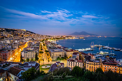 Sunset at Napoli (Francesco Colaceci) Tags: italy campania napoli outdoor sunset blue h bluehour landscape travel tourism cityscape clouds colors longexposure filter sony a7iii nisi historic vesuvio sea port volcano lights europe beautiful