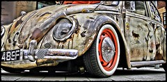 1968 VW Beetle WFK 489F (BIKEPILOT, Thx for + 5,000,000 views) Tags: 1968 vwbeetle wfk489f camberleycarshow camberley surrey uk vintage classic car automobile scruffy transport vehicle carshow england britain rusty metal grunge photoshopped photoshop old used 2018