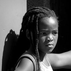 Soweto 2018 (__ PeterCH51 __) Tags: portrait face soweto sowetotownship township johannesburg southafrica za people localpeople schoolgirl social reportage documentation socialreportage socialdocumentation bw blackandwhite monochrome square peterch51 streetlife dailylife gauteng
