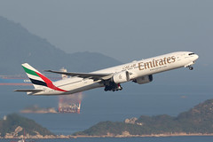 A6-EGP, Boeing 777-300ER, Emirates, Hong Kong (ColinParker777) Tags: boeing 777 77w 777300 777300er b777 b777300er 77731her airplane aeroplane airliner aircraft aviation fly flying flight takeoff departure climb travel emirates ek uae airlines airways airline hong kong hkg vhhh chek lap kok airport cranes barge barges ocean sea river delta pearl cathay pacific cx cpa 77a canon 7d2 7dmk2 7dmkii 7dii 200400 l lens zoom telephoto water a6egp 35599 1010