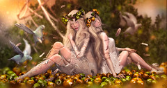 Doll Paradise (meriluu17) Tags: doll dolls dolly porcelain surreal fantasy fairy fae faes magic magical autumn fall warmth does doe animal bird apple apples paradise dream dreammy people