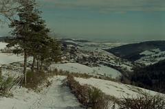 Village (leniners) Tags: 2018 france rhone silbersalz35 leica m6 leicam6 saintmarcelléclairé saint marcel eclaire neige snow