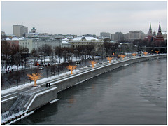 Kremlin embankment at the Moscow center with the Kremlin and the Moskva River. (lyudmila fomina) Tags: mygearandme canon autofocus city winterinmoscow river