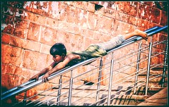 SuperBoy on Rails! (Eddie.Rasheed) Tags: child children kids boy rails handrails street streetphotography delhi incredible station metro mypixeldiary adolescence childhood play incredibleindia nikonphotography nikondigital nikon