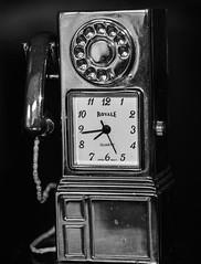 Time to make that call (Harry McGregor) Tags: macromondays timepieces miniatureclock blackandwhite monochrome harrymcgregor nikon d3300 10 march 2019