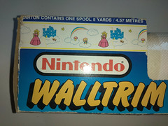 North American Decorative Products Super Mario Bros Nintendo Wall Trim 33 (gamescanner) Tags: north american decorative products super mario bros nintendo wall trim covering walltrim decor sculpted vinyl border upc 058559709011 058559709035 rosewall inc 1989 sku 70902