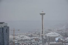 Seattle Snowmageddon 2019 7 (C.M. Keiner) Tags: seattle washington usa city cityscape skyline mountains pacific northwest puget sound snow blizzard winter storm urban