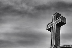 Crux (vhernand69) Tags: cross religion death hope light dark clouds bw blackandwhite