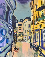 9.Cycle of Plovdiv Landscapes, oil on canvas, 61.5х48 сm., 2019 (Marinova Pavlina) Tags: exhibitionvihronipopnedelevlandscapes plovdiv