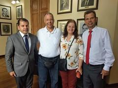 Visita do casal Marcos José Cunha e Sara de Melo