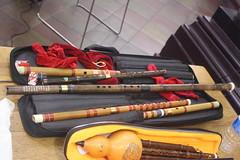 Side-Blown Flutes 18: Dizi ( of Silk String Trio musician) (KM's Live Music shots) Tags: musicalinstrument hornbostelsachs aerophone dizi flute china silkstringtrio stthomashospital