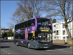 NXC 6959, Kenilworth Road (Jason 87030) Tags: nxc nationalexpress long drawn out affair grey puple bus 11 doubledecker april 2011 mmc 6959 legs wheels warwickshire warwick university route new buses midlands canon yx68usj sunny weather trees office