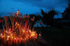 Lighted candles in Thailand (NUK KB.) Tags: light candles thailand tradition festival tak buddhist temple