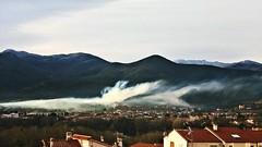 Neige... PSP**** (Isabelle****) Tags: céret pyrénéesorientales france montagnes mountains fumée smoke neige snow