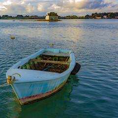 Saint Cado (Rack Lett) Tags: morbihan saintcado tiny house buiding sea sunset boat water calm peace france britanny breton eos 550d