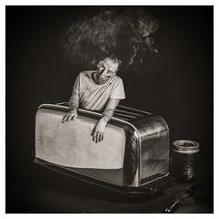 Feeling Toasted? (_Matt_T_) Tags: smcpda55mmf14sdm selfie portrait dailyinfebruary toaster autoportrait af540fgz apolloorb43 speedbounce40 composite 365 westcott cactusv6 af360fgz bw