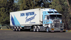 Newell @ Parkes (1/6) (Jungle Jack Movements (ferroequinologist)) Tags: k200 don watson kenworth freightliner western star quicks armestos beerwah wattle flat ipec toll hp horsepower big rig haul haulage freight cabover trucker drive transport carry delivery bulk lorry hgv wagon road highway nose semi trailer deliver cargo interstate articulated vehicle load freighter ship move roll motor engine power teamster truck tractor prime mover diesel injected driver cab cabin loud rumble beast wheel exhaust double b grunt newell parkes