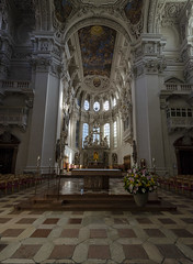 St Stephens Cathedral Interior - Passau 3 (rschnaible) Tags: st stephens cathedral church historical history circa 1688 baroque architecture building passau germany europe interior alter
