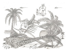 Investigator Cosmo (rod1691) Tags: myart art sketchbook bw scfi grey concept custom car retro space hotrod drawing pencil h2 hb original story fantasy funny tale automotive illustration greyscale moonpies sketch sexy voodoo