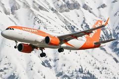 G-UZHG (toptag) Tags: airbusa320251n guzhg inn lowi innsbruck aviation easyjet winter snow mountain