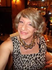Darn! Both A Hanger Strap And A Bra Strap Are Showing! (Laurette Victoria) Tags: dress woman necklace animalprint hotel bar milwaukee pfisterhotel