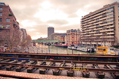 257 - Paris - Février 2019 - les anciennes voies de la Petite Ceinture vers le Canal de l'Ourcq (paspog) Tags: paris france février februar february 2019 canaldelourcq bassindelavillette petiteceinture