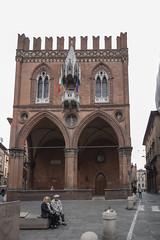 palazzo della mercanzia (cyberjani) Tags: italy architecture street city people photo building sky tower road bologna