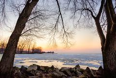 Kingsville Morning (Neil Cornwall) Tags: kingsville ontario winter 2019 march canada lakeerie lakesidepark ice sunrise sky water morning