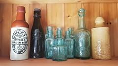 Mixed Bottles - Glass and Ceramic (Gilli8888) Tags: samsung s7 cameraphone newbigginbythesea newbiggin northumberland inside bottles glassbottles oldbottles ceramic