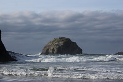 Face Rock, still looking pretty facey (rozoneill) Tags: bandon beach face rock coquille point river devils kitchen oregon coast trail hiking
