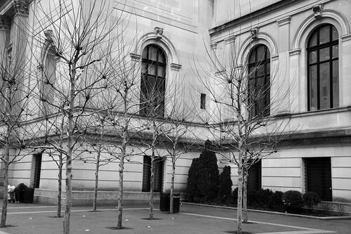 Exterior in winter, Metropolitan Museum of Art, NYC