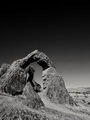 Chinese arch Utah (cwnaturescapes) Tags: arch utah blackandwhite desert
