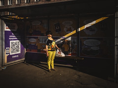 Flower power (Vitor Pina) Tags: streetphotography urban moments people light woman