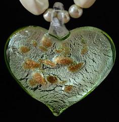 Love the Earth (arbyreed) Tags: arbyreed heart close closeup artglassheart seeds earth green greenglass corazón