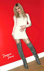 Blonde In Boots (jessicajane9) Tags: tg crossdresser tgurl xdress trans m2f transgender feminization tv crossdress feminised tranny boots transvestite crossdressing travesti femme tgirl cd