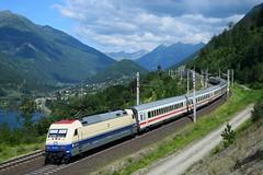 """101 112, EC 114 """"Wörther See"""" ( Klagenfurt > Dortmund ). Kolbnitz (M. Kolenig) Tags: 101 eurocity tauernbahn wolken baum berg"""