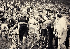 1939 TDF Victory in Paris (Sallanches 1964) Tags: tourdefrance 1939 sylvèremaes marcelkint belgiancyclists paris roadcycling tourdefrancewinners othertimessport beforethewar 19401945